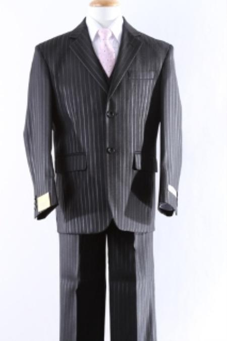 SKU#KA0981 Two Button 5 Pcs Boy Dress Suit Set Size From Baby to Teen