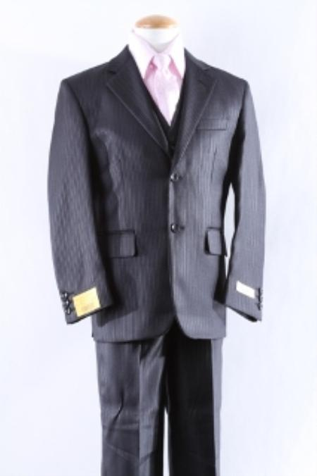 SKU#KA9840 Two Button 5 Pcs Boy Dress Suit Set Size From Baby to Teen $125