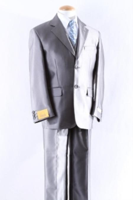 SKU#KA3400 Two Button 5 Pcs Boy Dress Suit Set Size From Baby to Teen $125