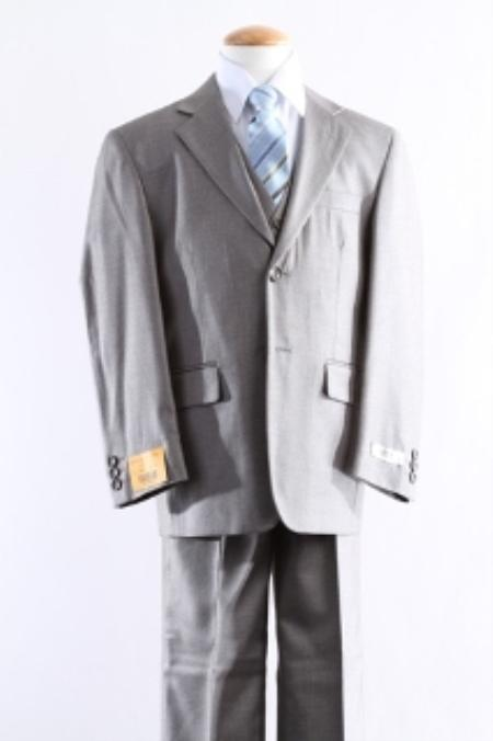 SKU#KA1555 Two Button 5 Pcs Boy Dress Suit Set Size From Baby to Teen $125