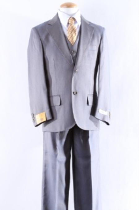 SKU#KA9004 Two Button 5 Pcs Boy Dress Suit Set Size From Baby to Teen $125