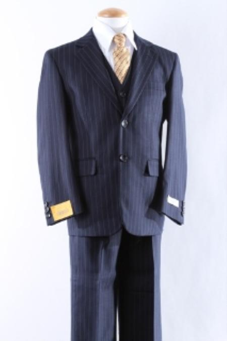 SKU#KA8760 Two Button 5 Pcs Boy Dress Suit Set Size From Baby to Teent $100