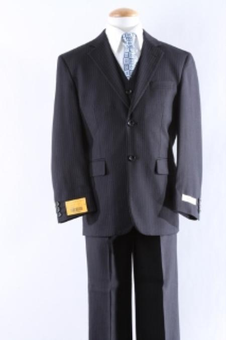 SKU#KA3333 Two Button 5 Pcs Boy Dress Suit Set Size From Baby to Teen  $100
