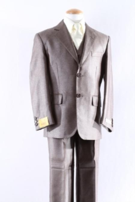 SKU#KA4254 Two Button 5 Pcs Boy Dress Suit Set Size From Baby to Teen