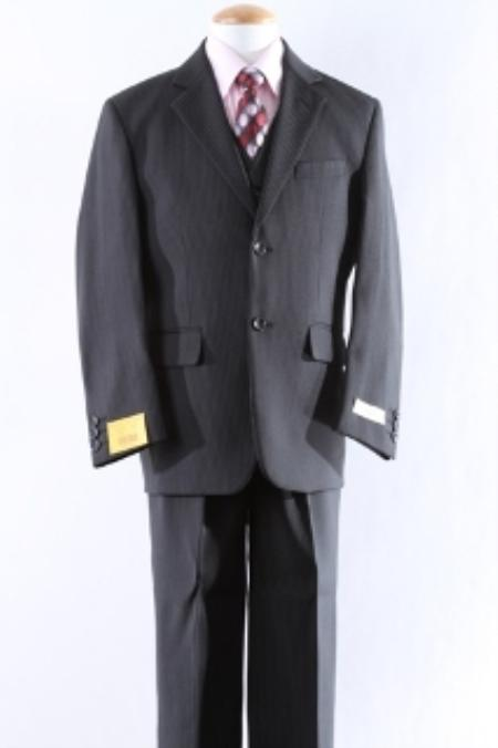SKU#KA5551 Two Button 5 Pcs Boy Dress Suit Set Size From Baby to Teen