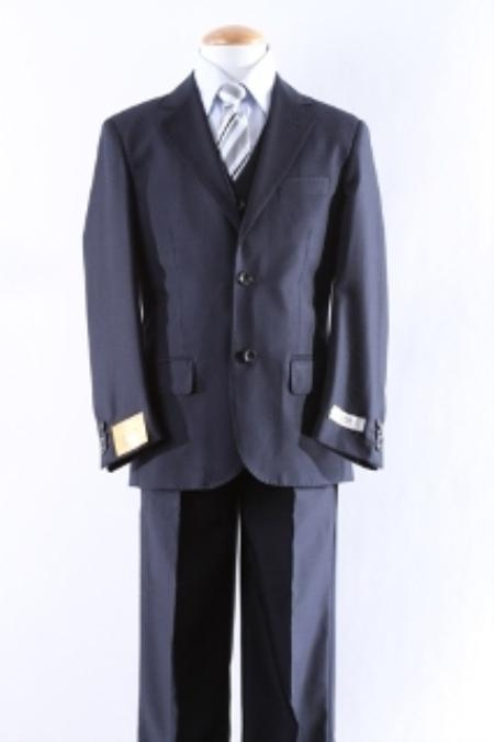 SKU#KA0912 Two Button 5 Pcs Boy Dress Suit Set Size From Baby to Teen $125