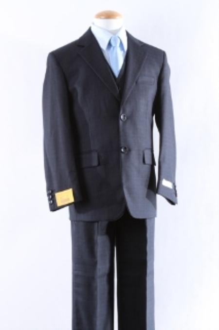 SKU#KA9008 Two Button 5 Pcs Boy Dress Suit Set Size From Baby to Teen  $100