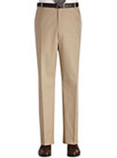 SKU#KA0980 Flat Front Regular Rise Slacks $69