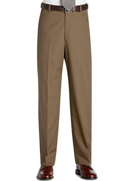 SKU#KA2011 Flat Front Regular Rise Slacks