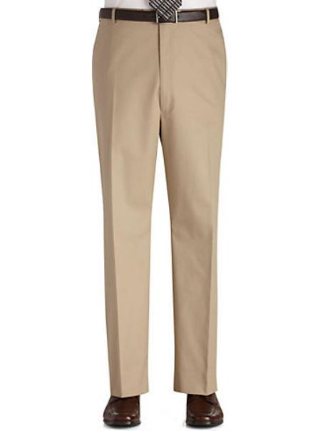SKU#KA7789 Flat Front Regular Rise Slacks