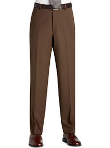 SKU#KA9879 Flat Front Regular Rise Slacks