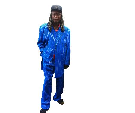 SKU#KA8123 Classic Bold Pronounce  Long Royal Blue Fashion Zoot Suit $185
