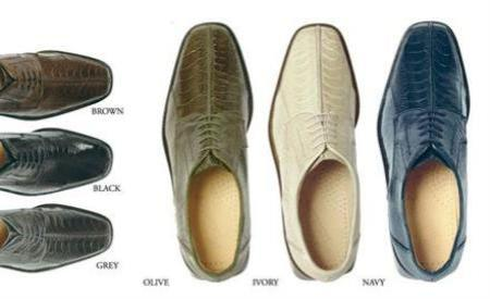 SKU#Belvederes Marco oxfords for men are made with ostrich Colors: Navy, Ivory, Olive, Grey, Blac