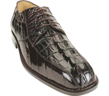 SKU#KA643 Belvedere Bruno - Brown Crocodile/Eel