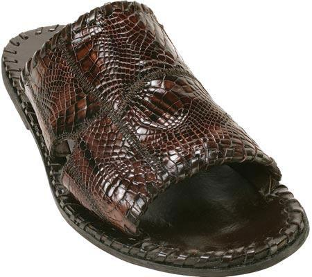 SKU#KA683 Belvedere Palma - Brown Alligator