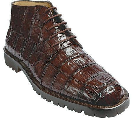 SKU#KA237 Belvedere Ugo - Brown Crocodil $494