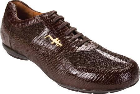 SKU#KA724 Belvedere Polo - Brown Lizard/Stingray Sneakers $243