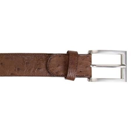 SKU#KA8222 Belvedere Brown Ostrich Quill Belt Available In 1 Size Only 44w