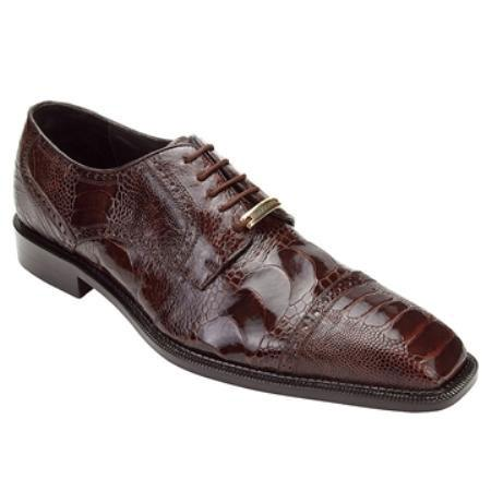 SKU#KA4523 Belvedere Men's Brown Genuine Ostrich