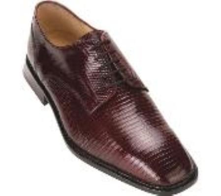 SKU#KA729 Belvedere Olivo - Burgundy ~ Maroon ~ Wine Color Lizard $288