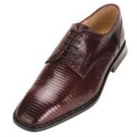 SKU#KA6739 Men's Belvedere Burgundy Genuine Lizard $305