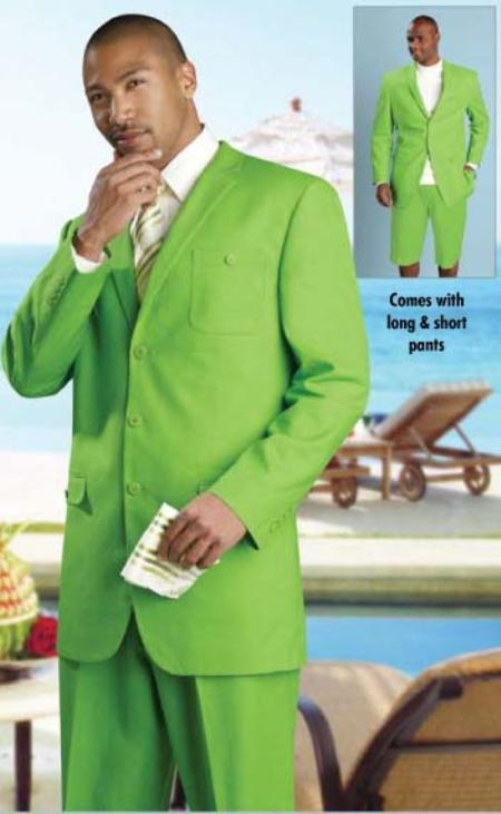 SKU#RF7745 Mens Linen Fabric Summer Suit Available In Lime or White or Black or Oatmeal $149