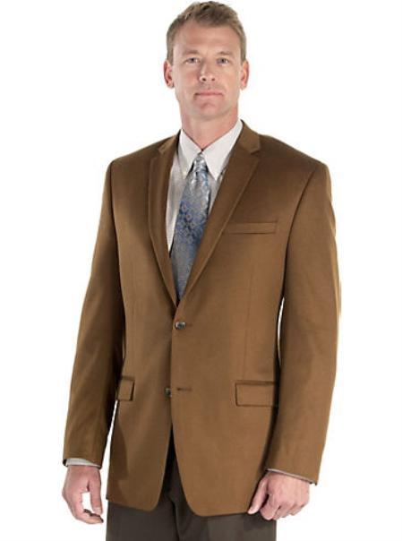 SKU#2BV-J40912C Mens 2 Button Side Vented Cashmere Sport Coat Bronze $175