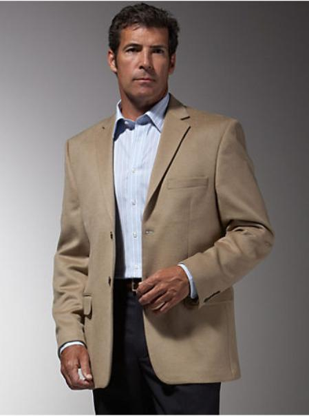 SKU#GB6222 Mens 2 Button Taupe Fully lined Sport Coat $175