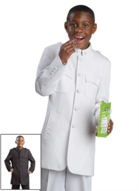 SKU#JK8723 Boys 2 Button Dress Suit White $139