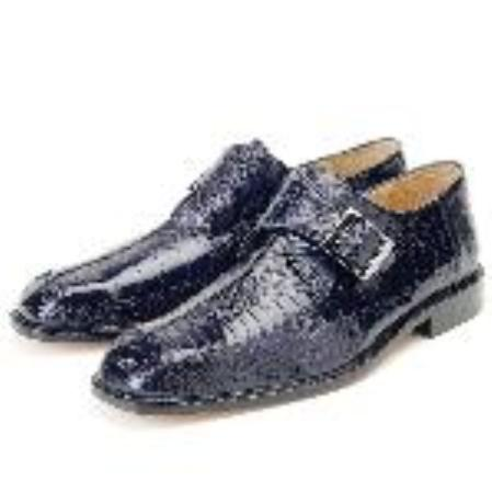 SKU#KA2341  Navy, Genuine Ostrich Leg by Belvedere $279