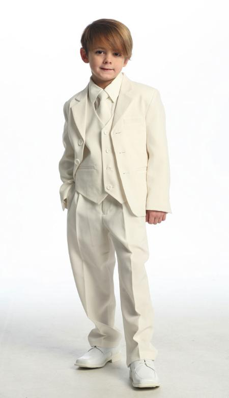 SKU#KA3245 Solid Single Breasted Boys Suit $89