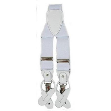 Men's Vintage Style Suspenders Mens White Suspender 19 $19.00 AT vintagedancer.com