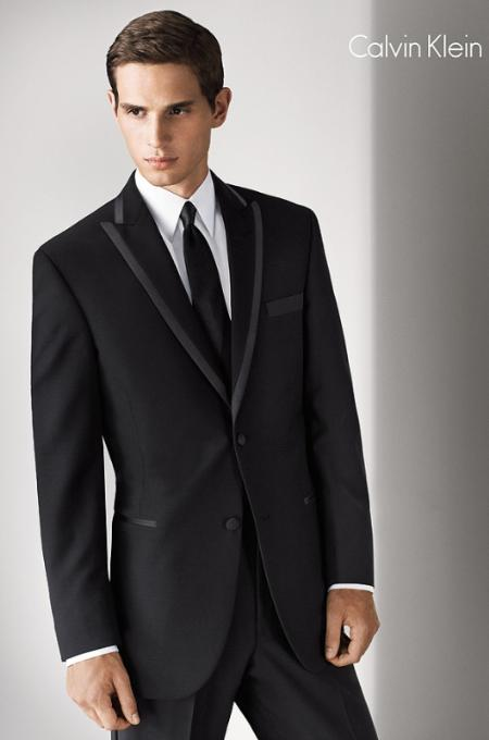 SKU#KA9090 Peak lapel flat front pants 2-Button Tuxedo Jacket $325