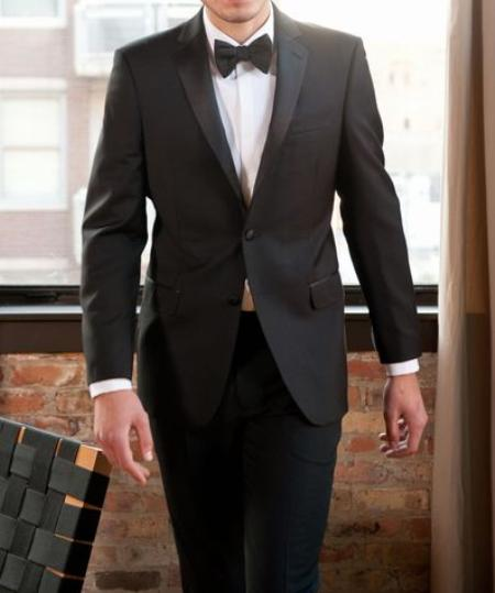 SKU#KA9092 2-Button Notch Tuxedo Jacket $595
