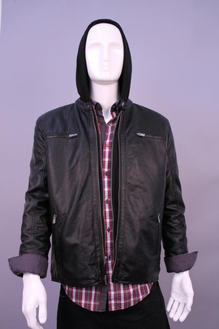 SKU#JH4456 Jackets & Outwear Black $199