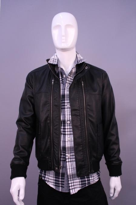SKU#MC9860 Jackets & Outwear Black $199