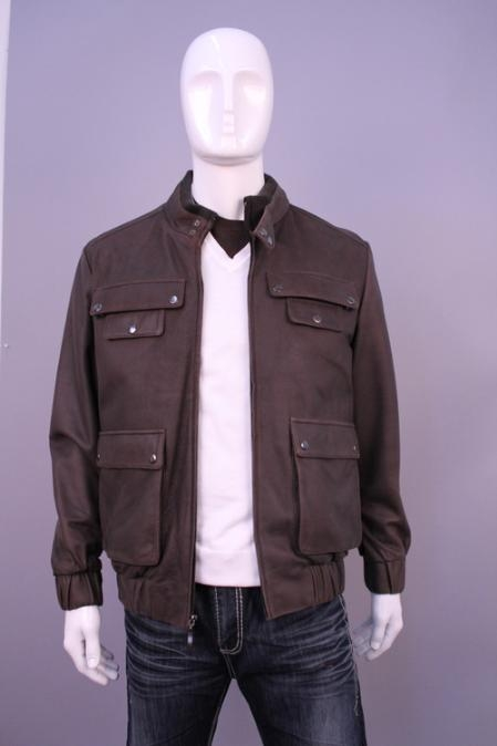 SKU#HF5988 Jackets & Outwear Brown $199