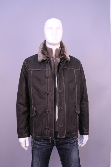 SKU#MB5899 Jackets & Outwear Dark Brown $159