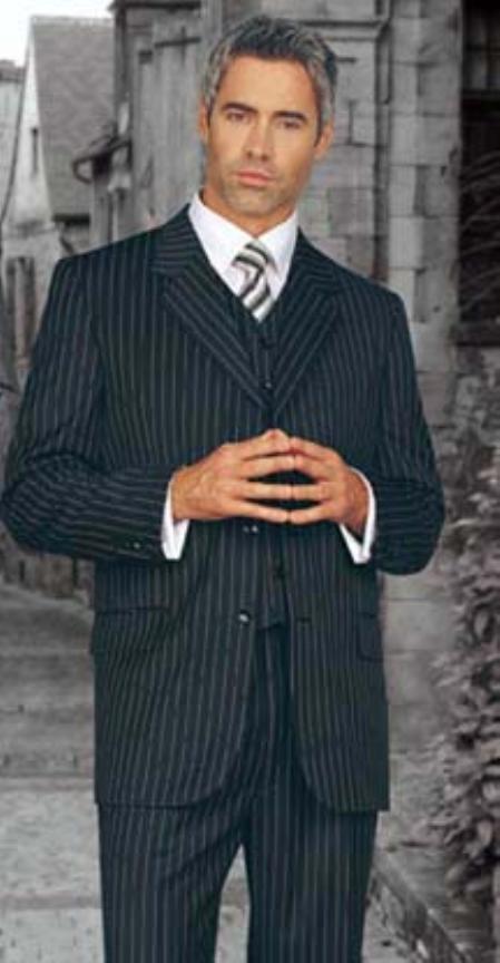 SKU#RAE451 JPR-30 Signature Platinum Stays Cool Discounted Sale BLACK EXTRA FINE SUPER 150S three piece suit