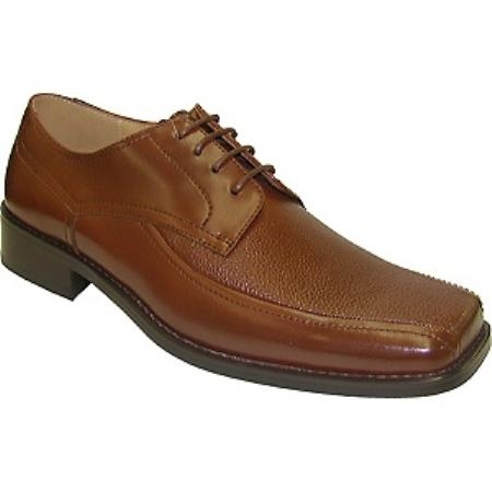 SKU#Z30158  leather upper square toe  square toe Mens Coffe~Oxford~Brown $75