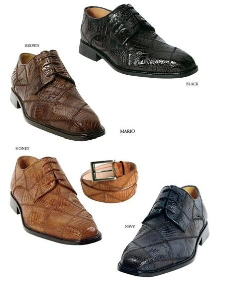 Comfortable luxurious Mario oxford from Belvedere Genuine alligator upper exotic skins $249