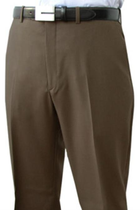 SKU#JUD611 Cotton Summer Light Weight Flat Front Pant 100% Superfine Cotton Pre-Hemmed $85