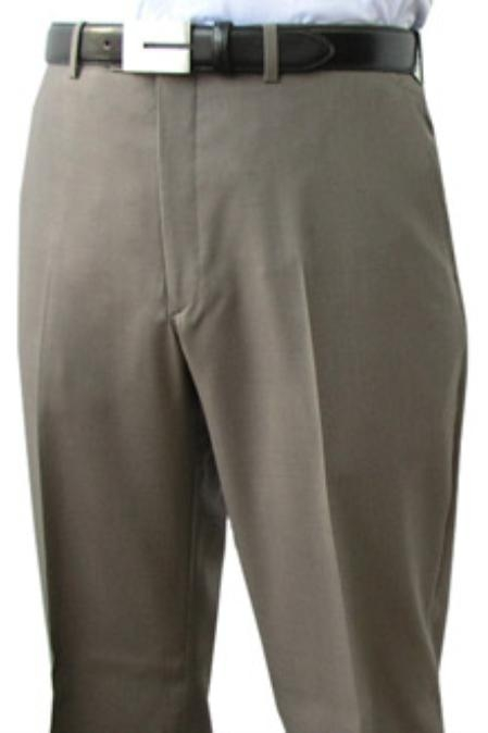 SKU#ROL932 Cotton Summer Light Weight Flat Front Pant 100% Superfine Cotton Pre-Hemmed