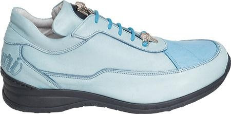 SKU#UQ7840 Mauri Bahama Blue Nappa Leather/Baby Crocodile Bahama Blue $296