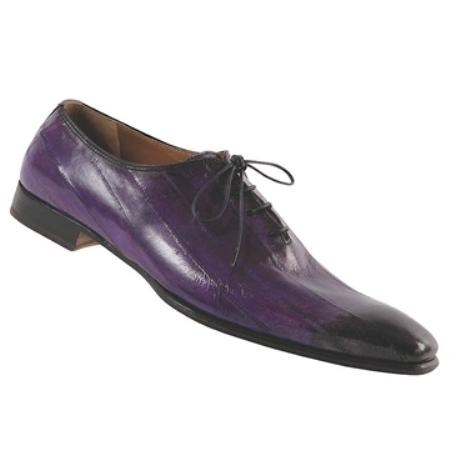 SKU#VR6540 Mauri Hand Painted Grape Genuine Eel $675