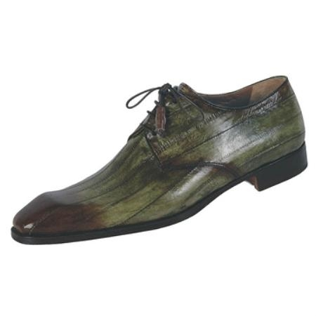 SKU#YV6720 Mauri Hand Painted Green Genuine Eel $710
