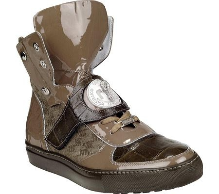 SKU#TJ5630 Mauri Olive Patent Leather/Fabric/Baby Crocodile Olive $444