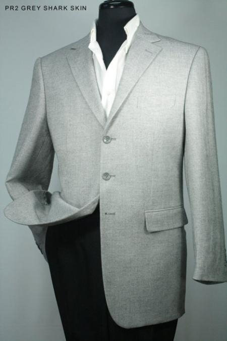 SKU#HF2966 Mens 100% Wool Sport Jacket Grey Shark Skin $139