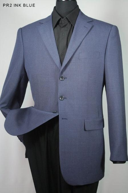 SKU#YN9977 Mens 100% Wool Sport Jacket Ink Blue $139