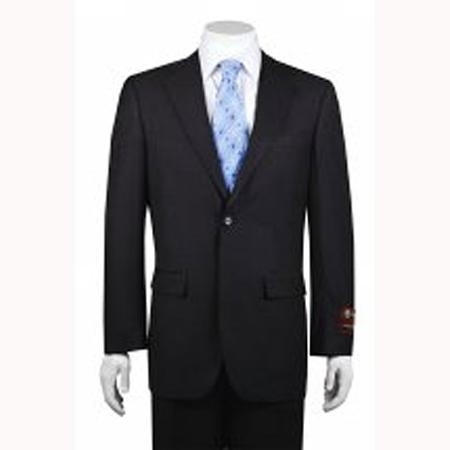 SKU#FS8787 Mens 2-button Solid Charcoal Suit
